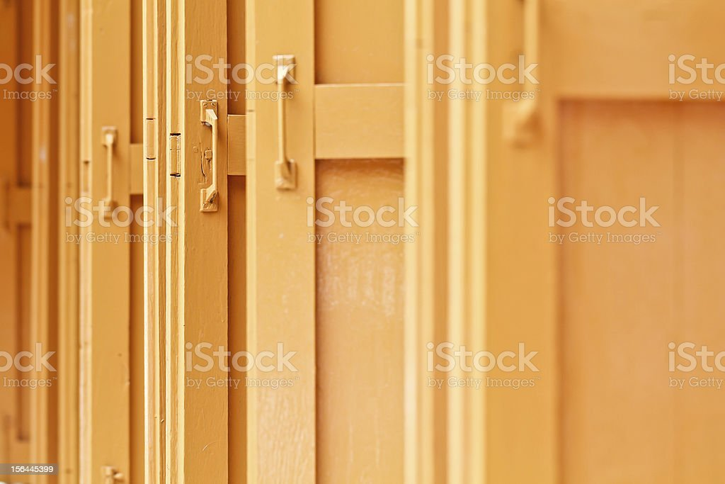 opened orange windows royalty-free stock photo