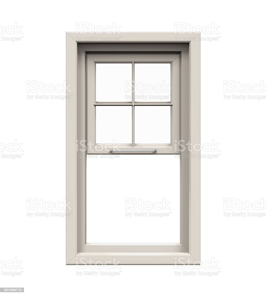 Opened Plastic Window stock photo