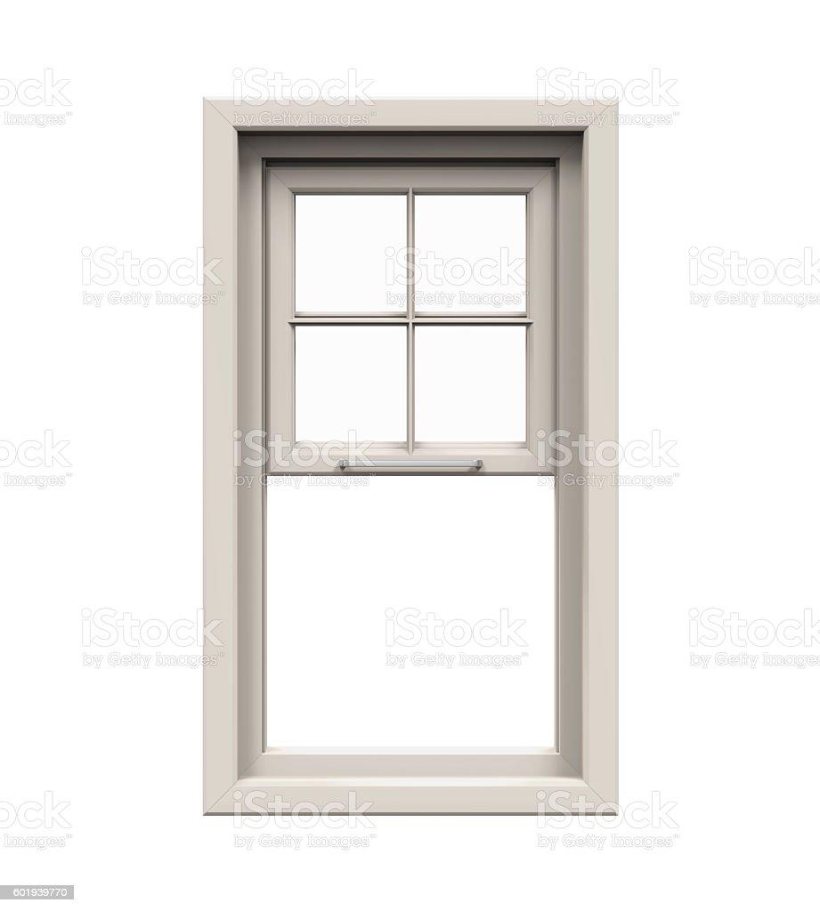 Opened Plastic Window stock photo
