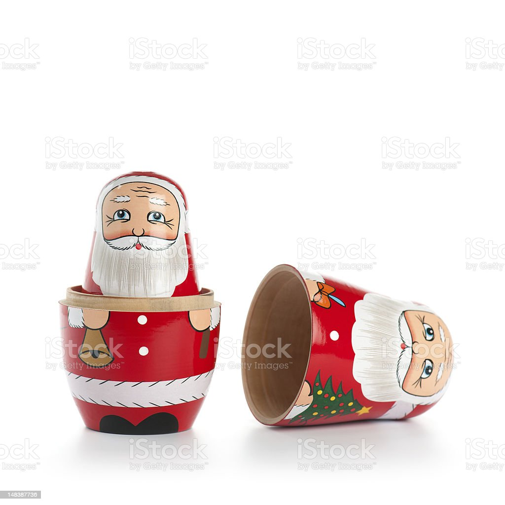 Opened Santa Doll stock photo