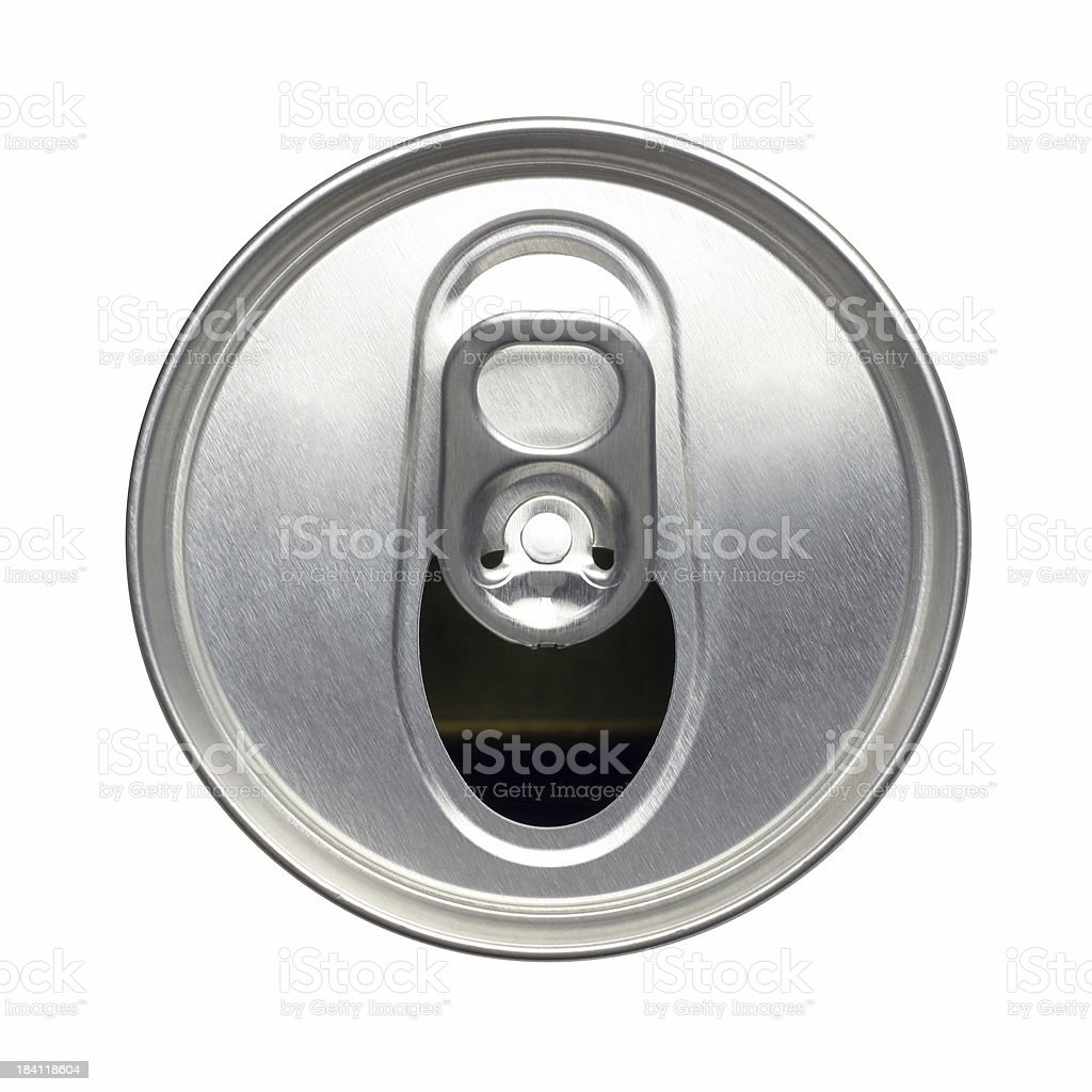 Opened Soda Can stock photo