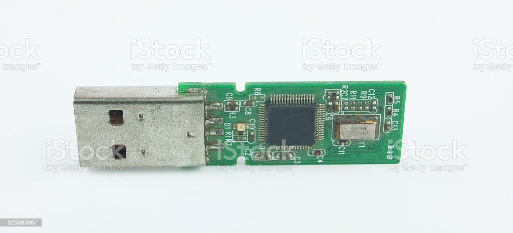Opened USB memory stick stock photo