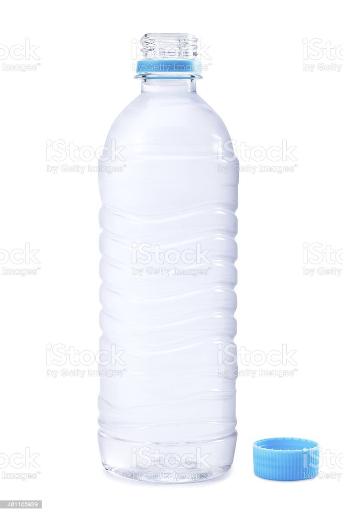 Opened Water Bottle stock photo