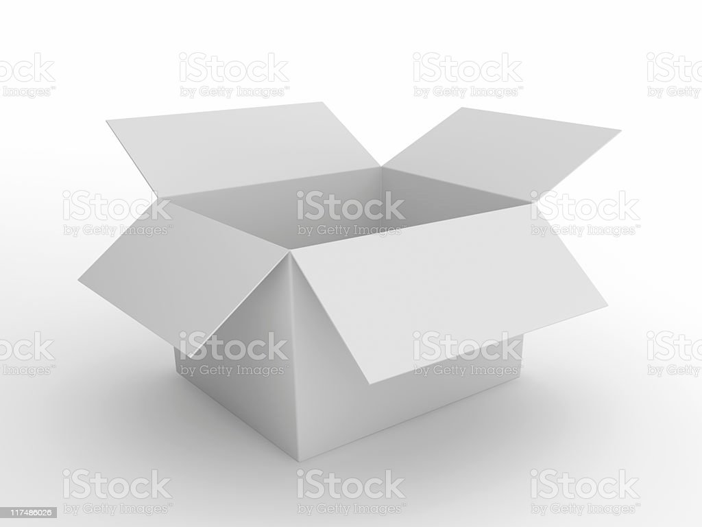 Opened white Box royalty-free stock photo