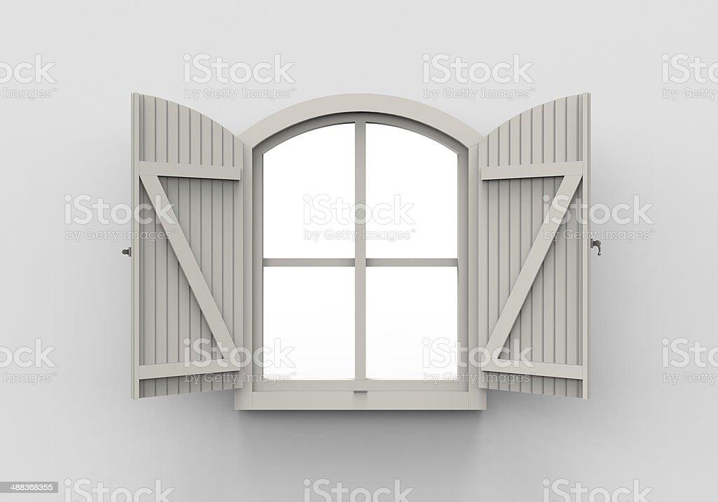 Opened Window stock photo