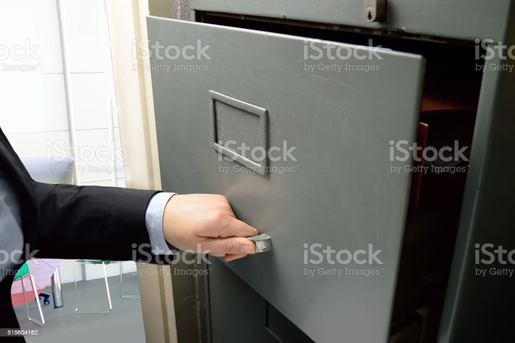 opening a file stock photo