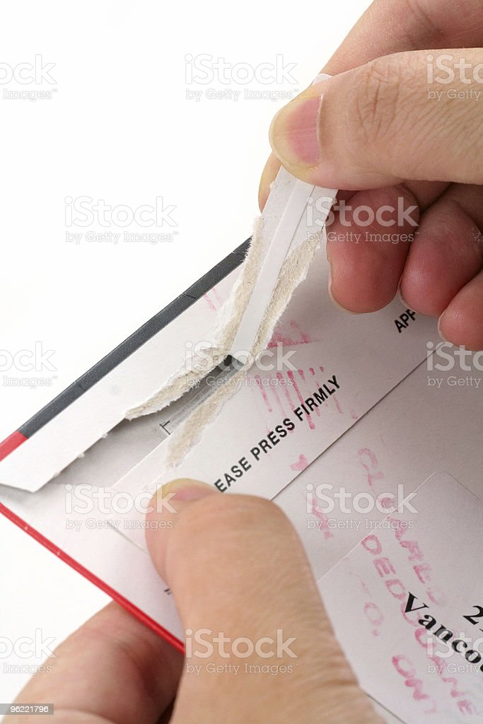opening a mail royalty-free stock photo