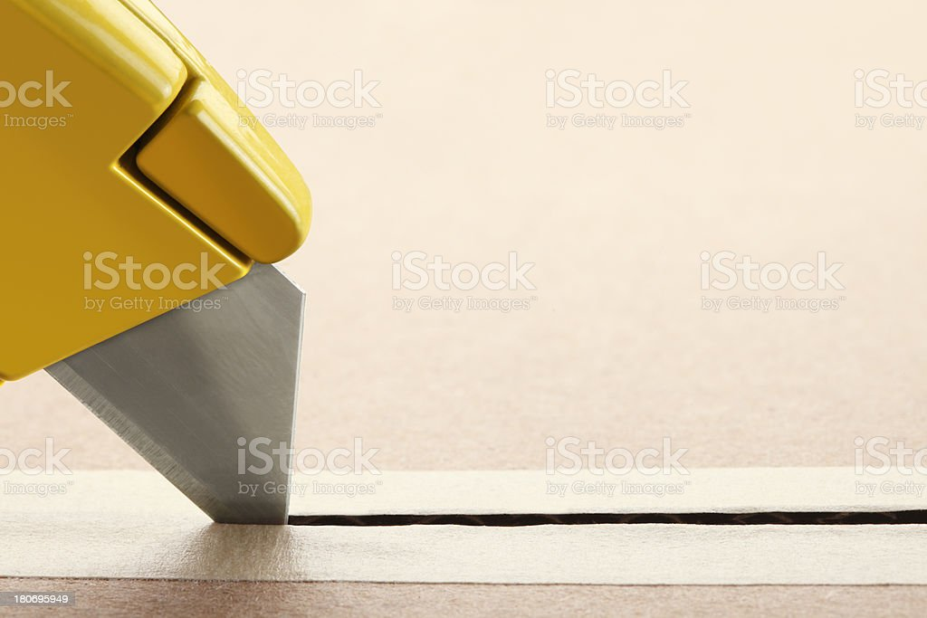 Opening A Package stock photo
