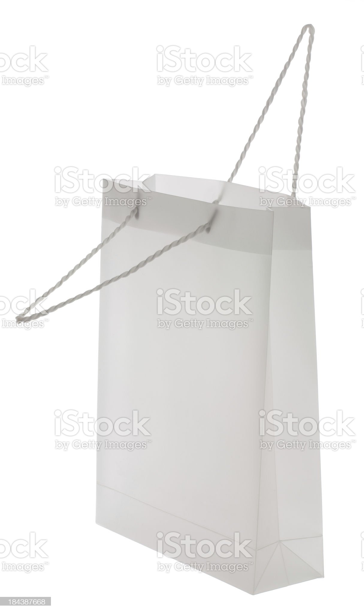 Opening Blank white deluxe shopping bag royalty-free stock photo