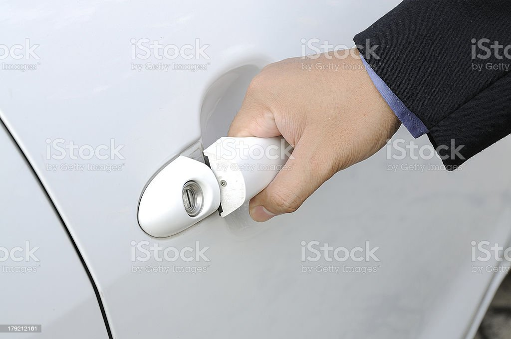 Opening Car Door royalty-free stock photo
