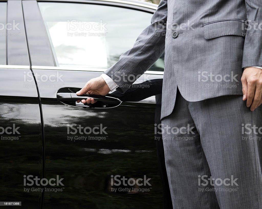 opening car door stock photo