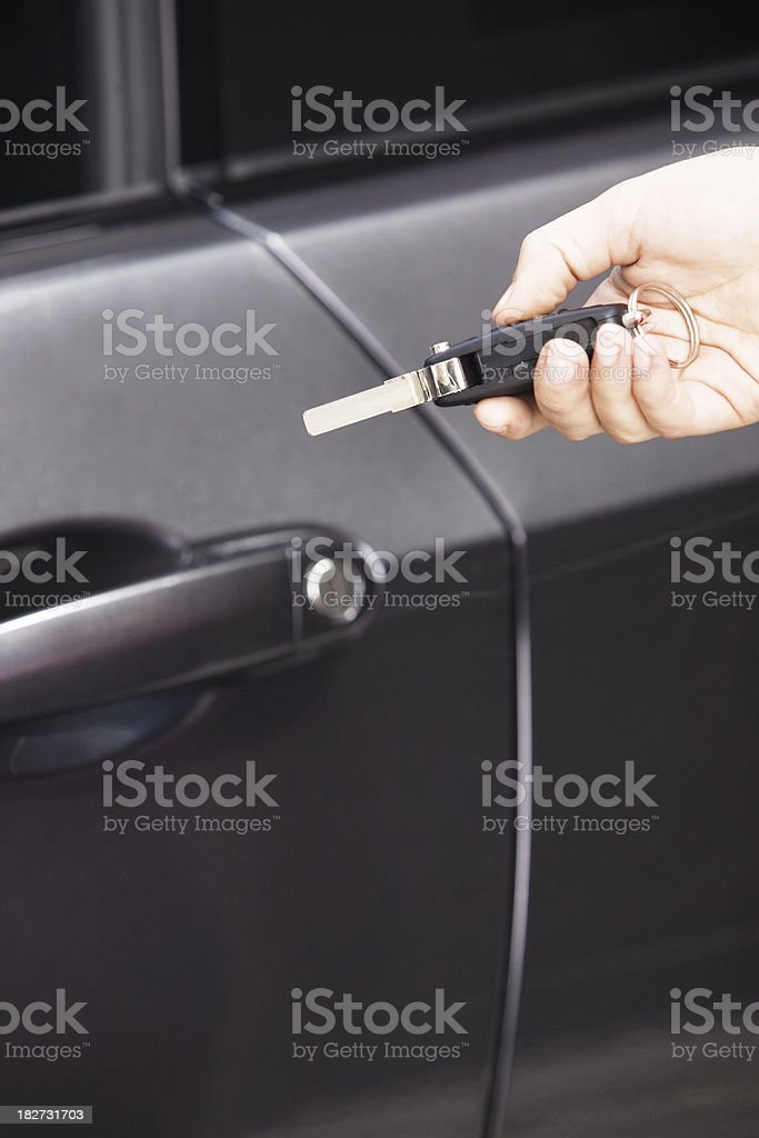 Opening Car royalty-free stock photo