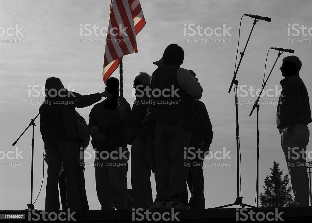 Opening Ceremony Silhouette stock photo