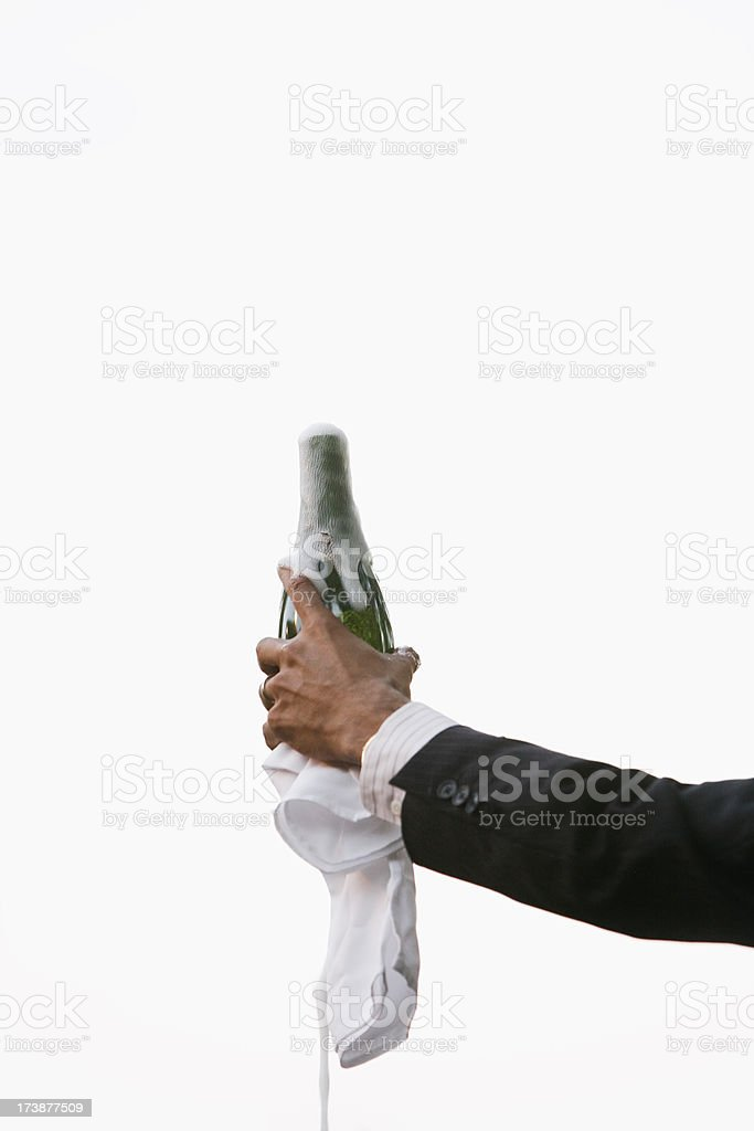 opening champagne royalty-free stock photo