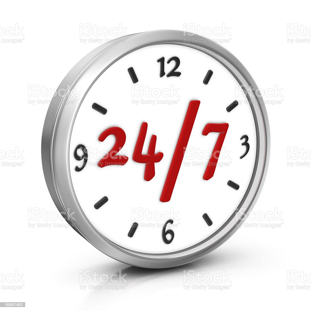 24/7 Opening Concept royalty-free stock photo