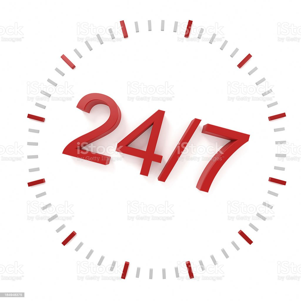 24/7 Opening Concept stock photo
