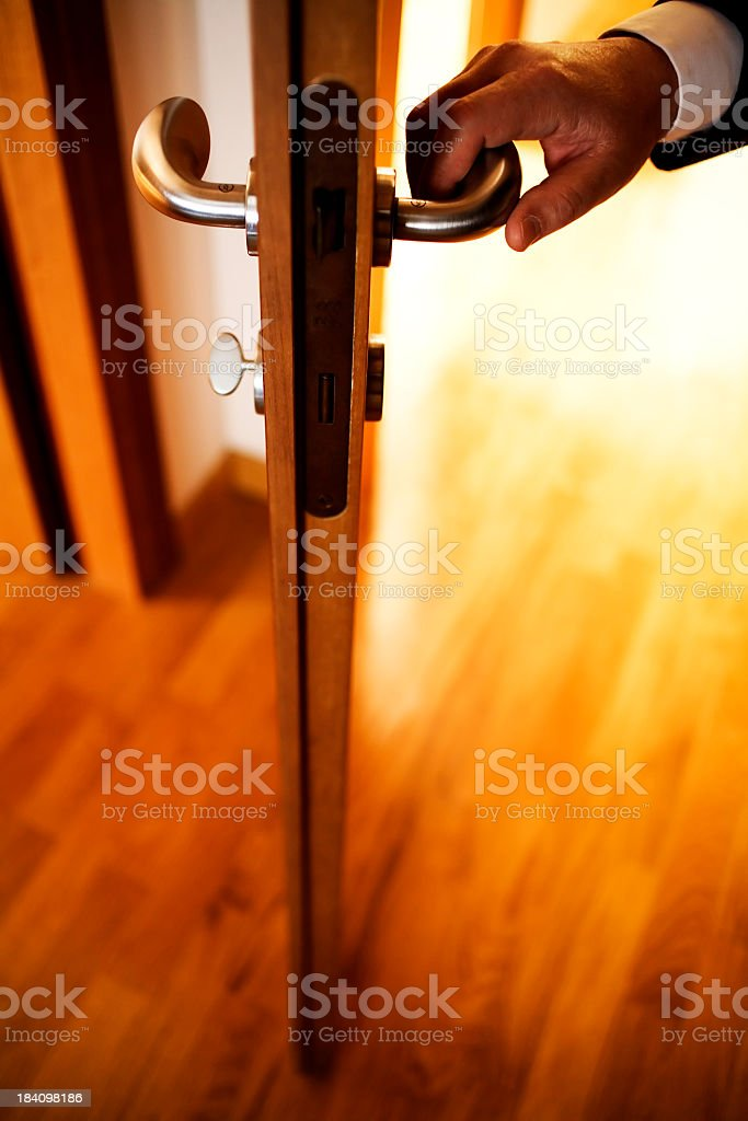 opening door royalty-free stock photo