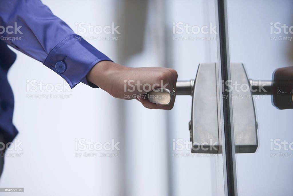 Opening door royalty-free stock photo