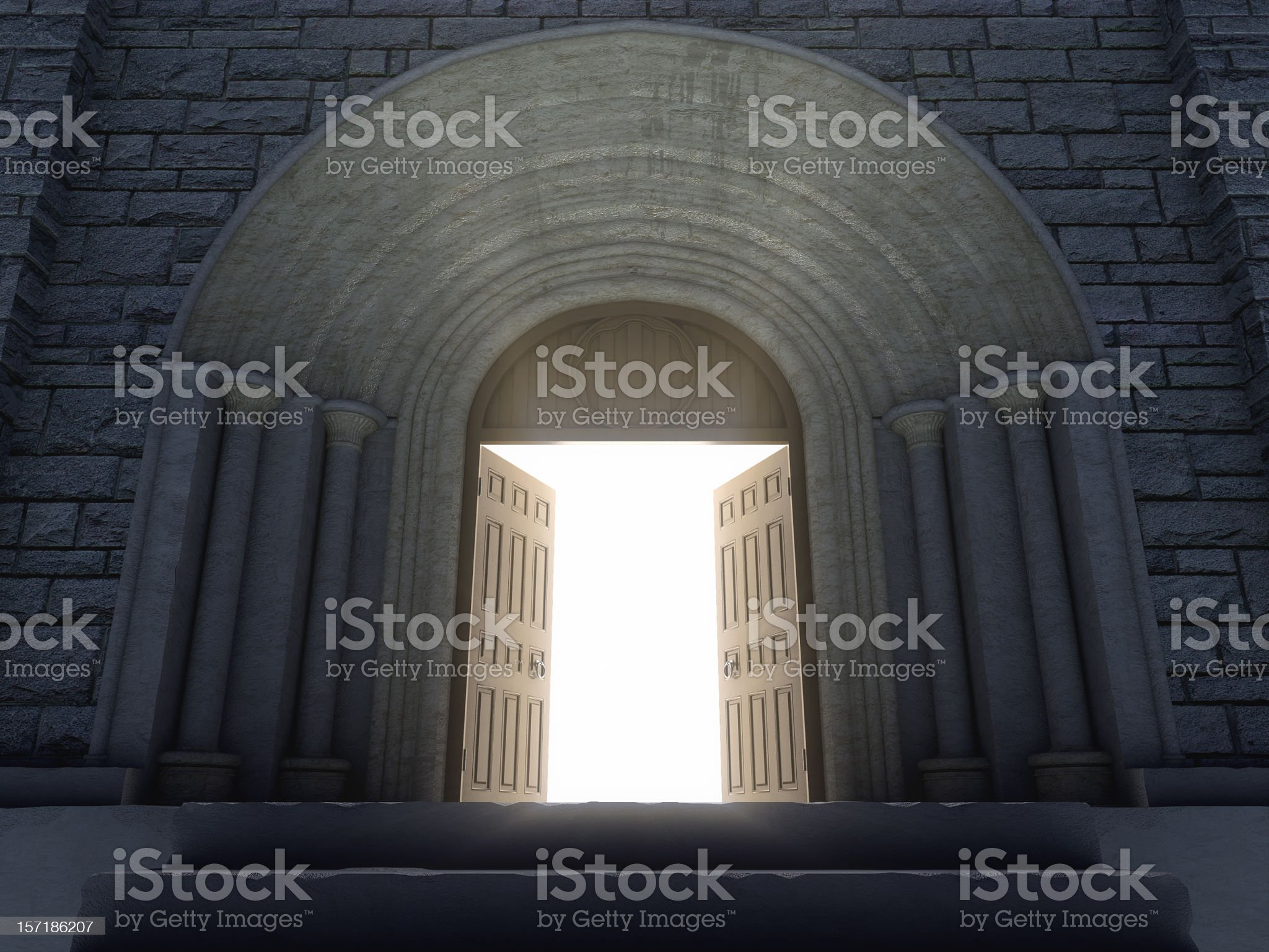 Opening Doors royalty-free stock photo