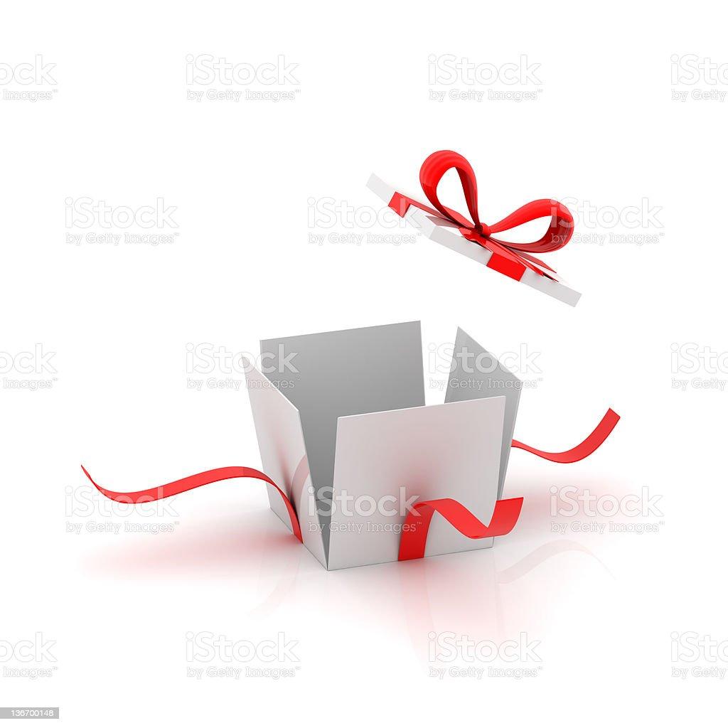 Opening Gift Box royalty-free stock photo