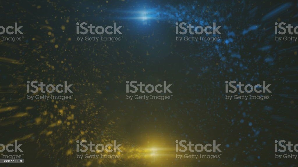 Opening intro Flash light, Lens flare, Particles stock photo