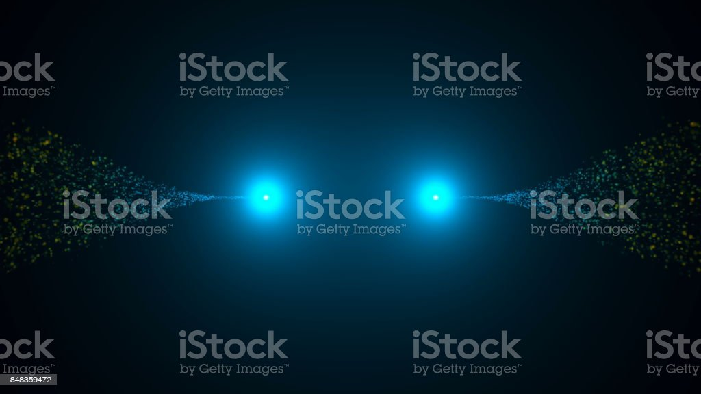 Opening intro. Light, Particles. Digital background stock photo