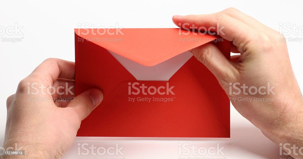 Opening love letter royalty-free stock photo