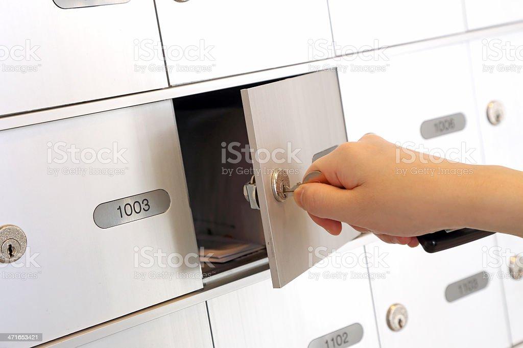 Opening mailbox royalty-free stock photo
