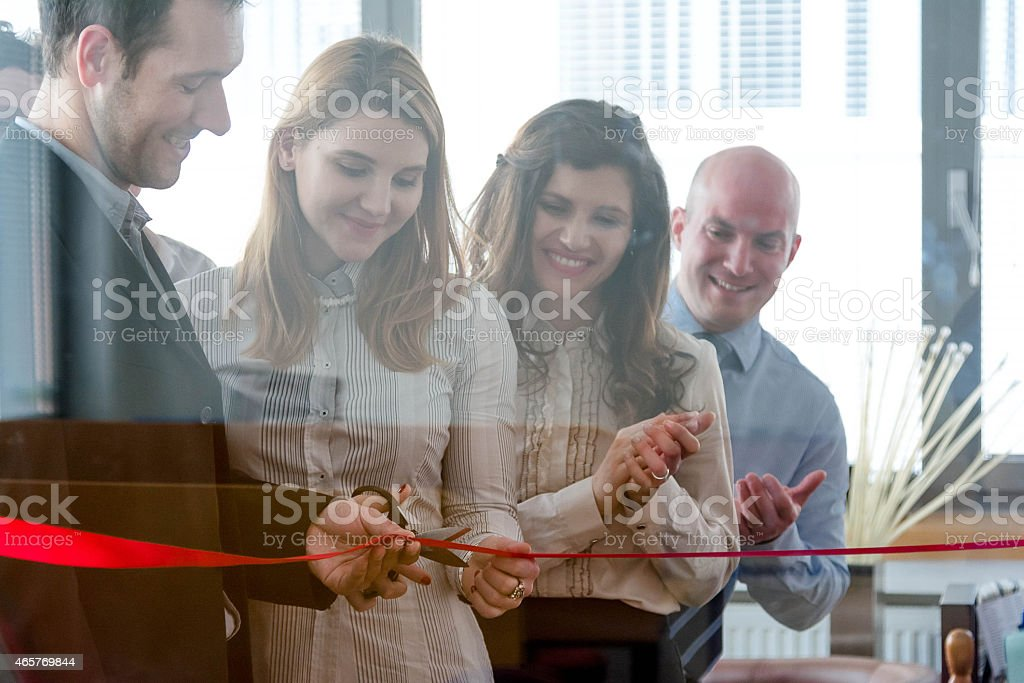Opening of new office space stock photo