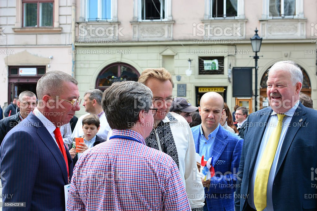 Opening of the Electric Marathon 2016 Lviv – Monte Carlo stock photo