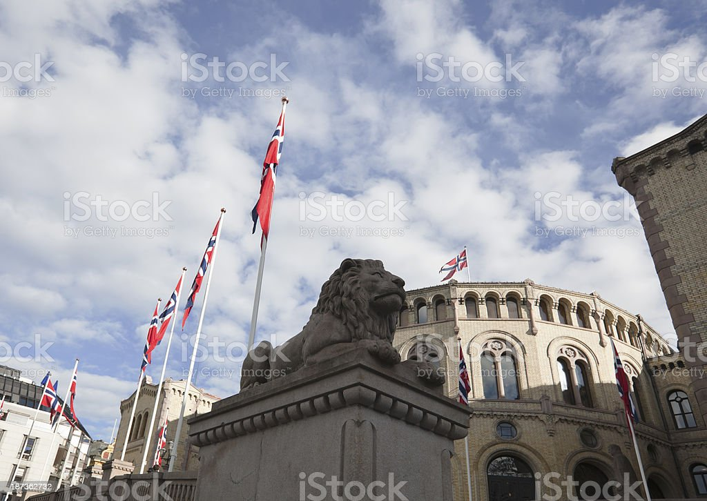 Opening of the Norwegian Parliament royalty-free stock photo