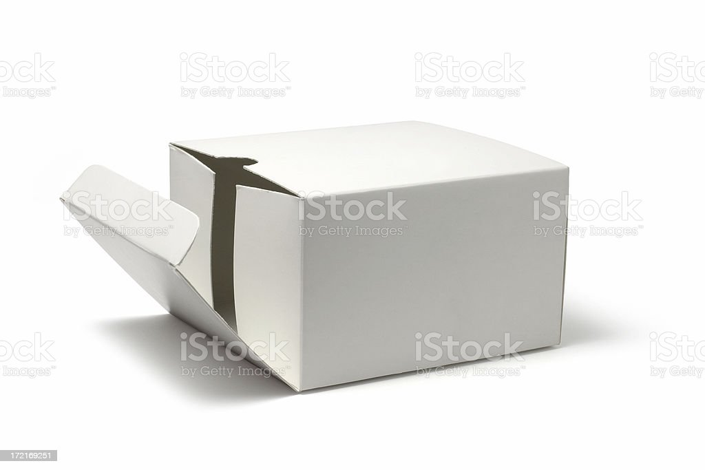 Opening Package royalty-free stock photo