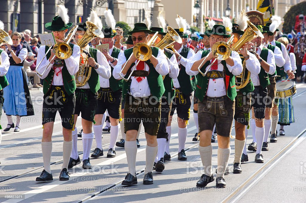 Opening parade of Oktoberfest in Munich, Germany stock photo