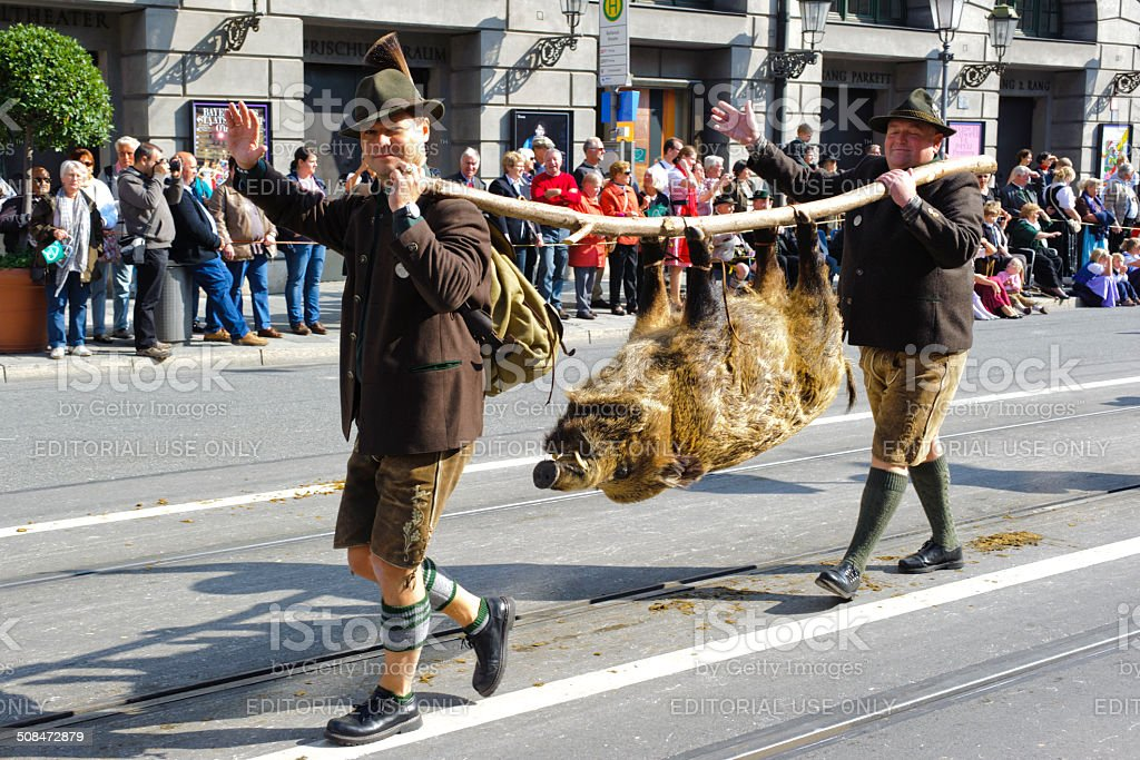 Opening parade of Oktoberfest in Munich, Germany royalty-free stock photo