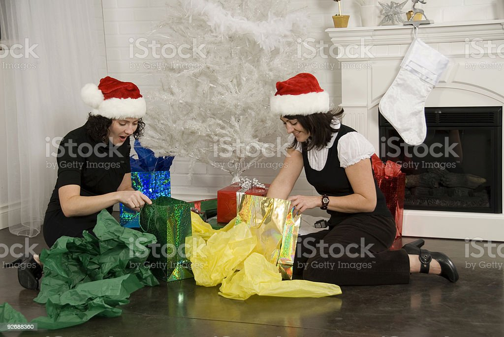Opening Presents royalty-free stock photo