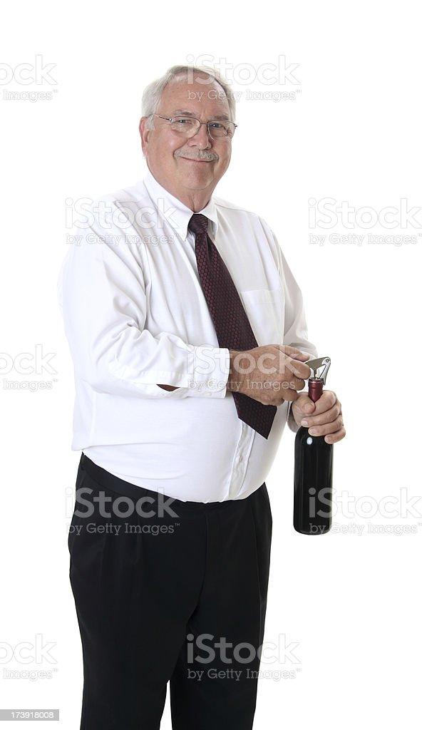 Opening the Wine stock photo