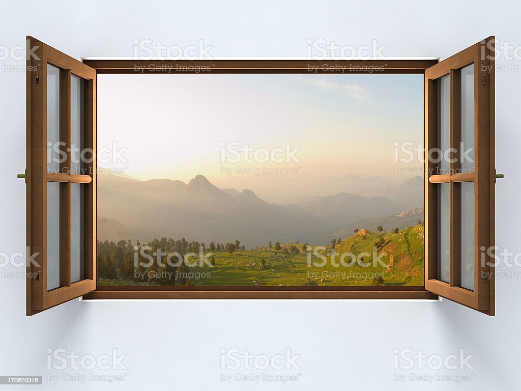 Opening to the nature... stock photo