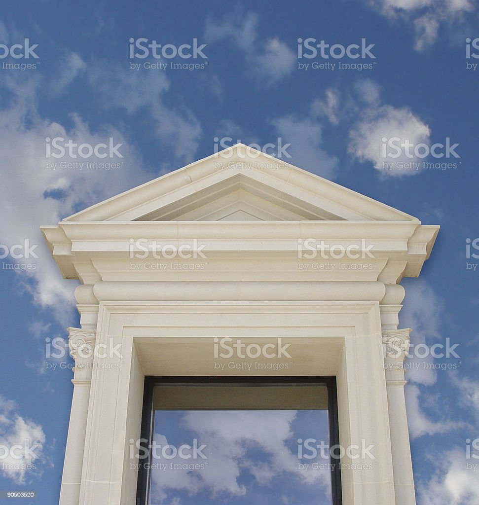 Opening to the sky. royalty-free stock photo