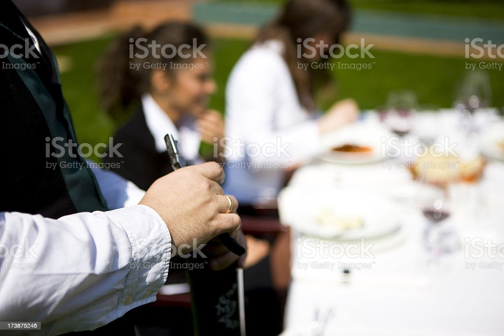 Opening wine royalty-free stock photo