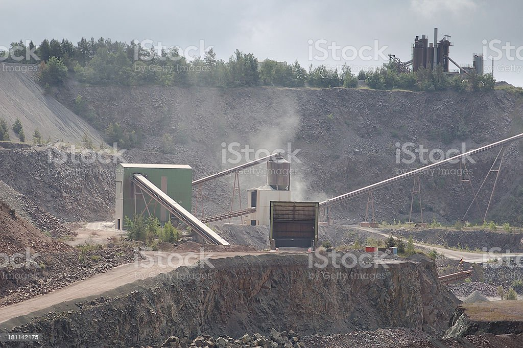 Open-pit Mine royalty-free stock photo