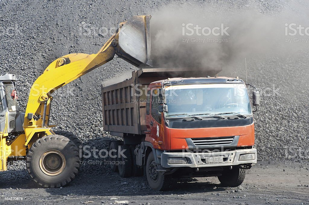 Open-pit Mine with Earth Move stock photo