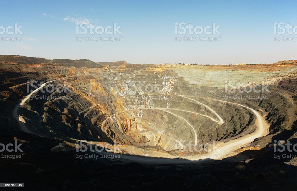 Open-pit zink mine royalty-free stock photo
