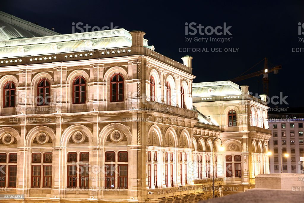 Opera and Construction stock photo