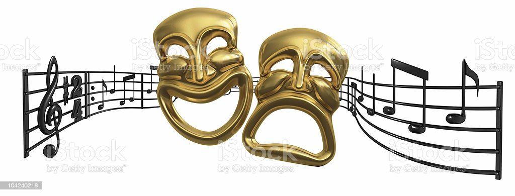 Opera and Musical Theatre on White stock photo