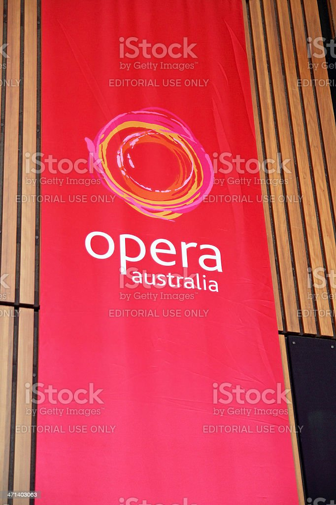 Opera Australia Logo royalty-free stock photo