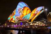 Opera Bar and Opera house during Vivid Sydney