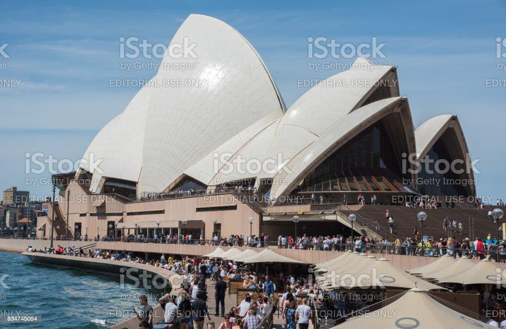 Opera Bar and Opera House with Tourists stock photo