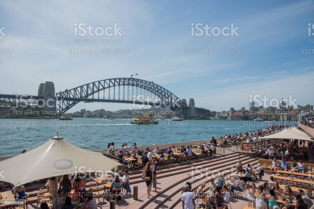 Opera Bar Crowd stock photo