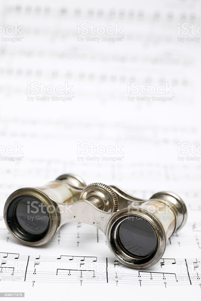 Opera Binoculars royalty-free stock photo