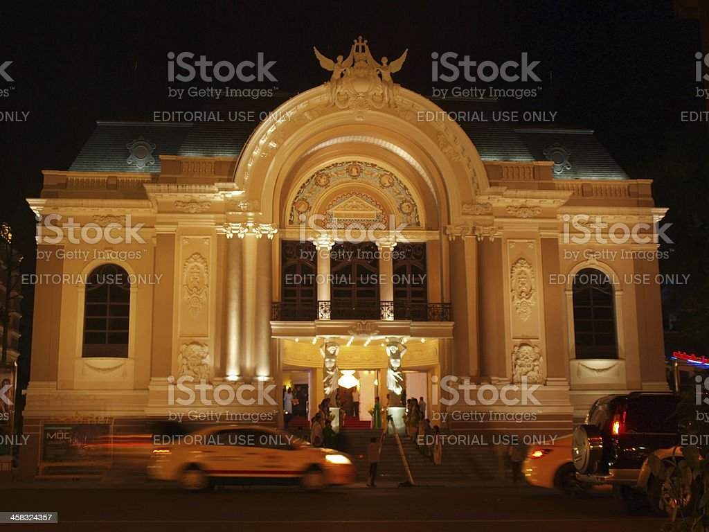 Opera building in Saigon royalty-free stock photo